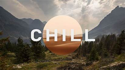 Chill Wallpapers Background Mountain Trees Clouds Field