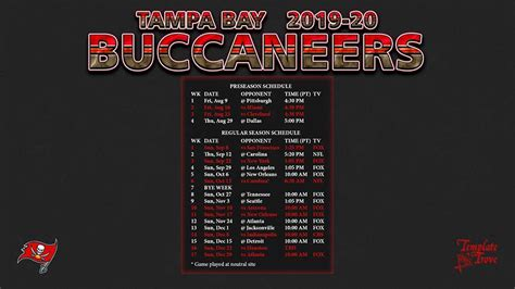 tampa bay buccaneers wallpaper schedule