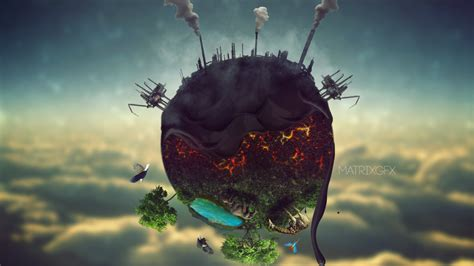 Earth Polution By Matrix2525 On Deviantart