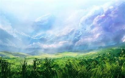 Sky Grassy Field Wallpapertag