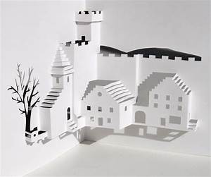 3d pop up card templates free - village square pop up card you can make yourself