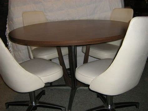 vintage chromcraft dining set dinette table swivel