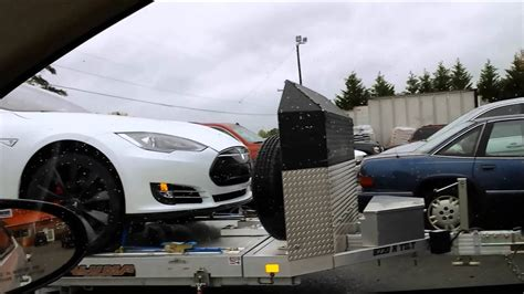 tesla service delivery truck model  pd youtube