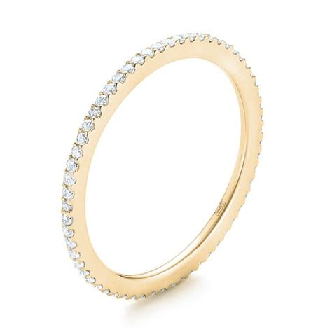 yellow gold diamond eternity wedding band