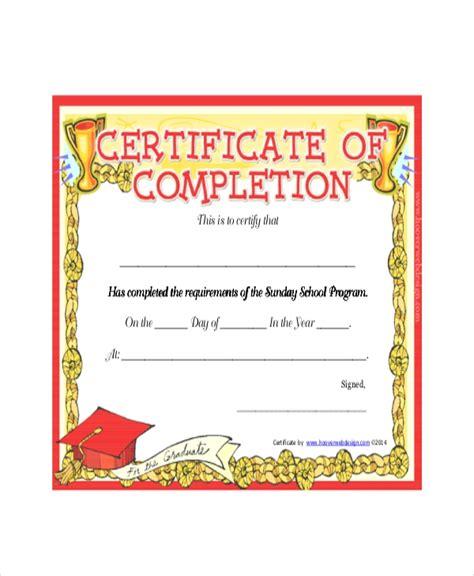 sunday school certificate template  word excel