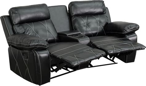 Theaters With Reclining Chairs In Florida by Reel Comfort Series 2 Seat Reclining Black Leather Theater