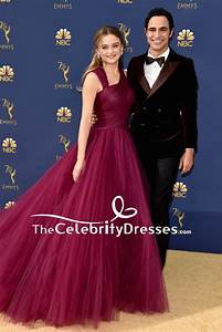 Joey King Purple Tulle Ball Gown Formal Dress 2018 Emmys