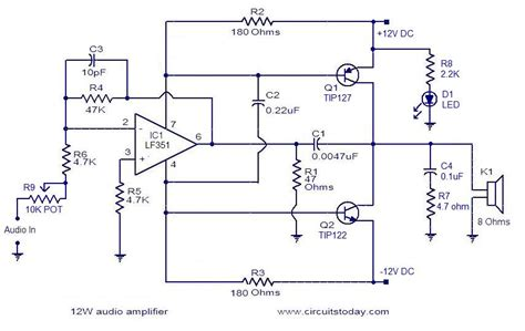 Simple Audio Amplifier Electronic Circuits