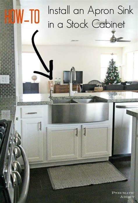 learn   modify  cabinet  accomidate  apron front sink kitchen diy pinterest