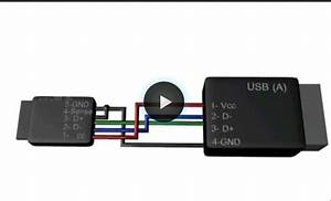 Usb Cable Wiring Diagram For Connecting The