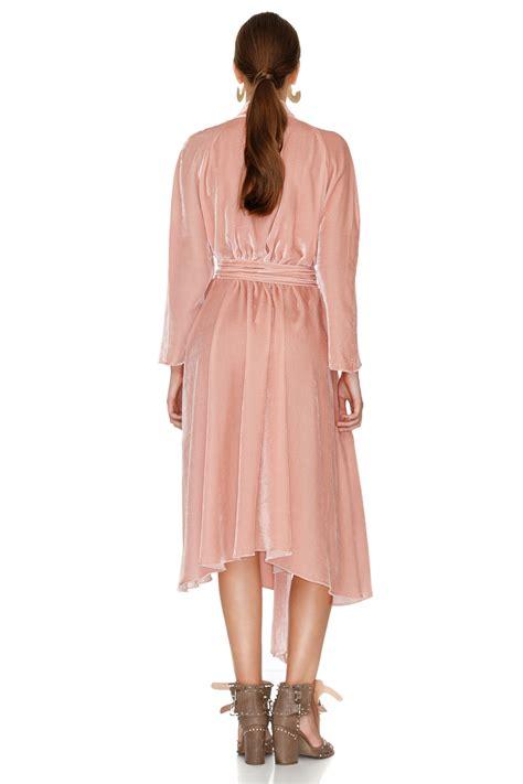dress turkey 75 pink velvet midi dress pnk casual