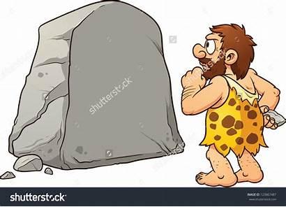Rock Caveman Clip Illustration Clipart Vector Thinking