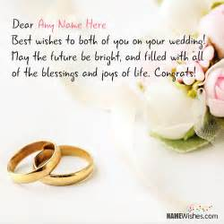 wedding card blessings wedding wishes for anyone with name