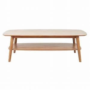 Table Basse Retro : table basse vintage en ch ne massif portobello maisons du monde ~ Teatrodelosmanantiales.com Idées de Décoration