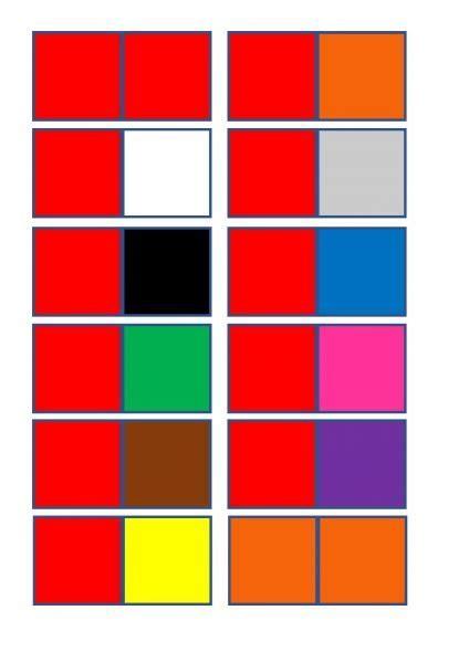 Krāsu domino - Mācību materiāli