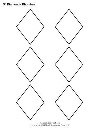 diamond templates   tims printables