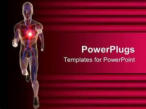 powerpoint template transparent 3d depiction of a human With cardiac ppt template
