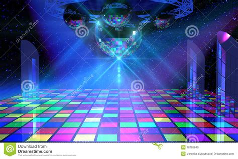 disco ball floor l colorful dance floor with several disco balls stock