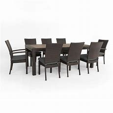 Rst Brands Deco 9piece Patio Dining Set With Charcoal