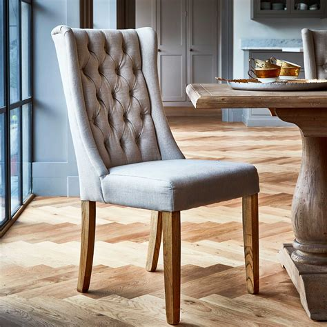 kipling fabric dining chair cream oak barker stonehouse