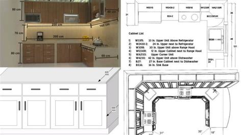numbers  standard kitchen measurment