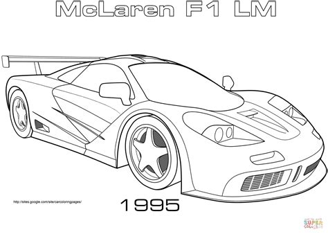 mclaren p1 drawing easy kolorowanka 1995 mclaren f1 lm kolorowanki dla dzieci do