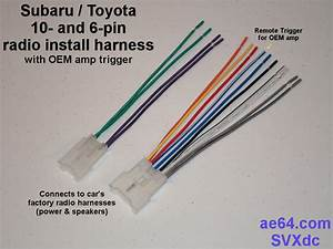 Radio Wiring Adapter  Harness  For Subaru And Toyota