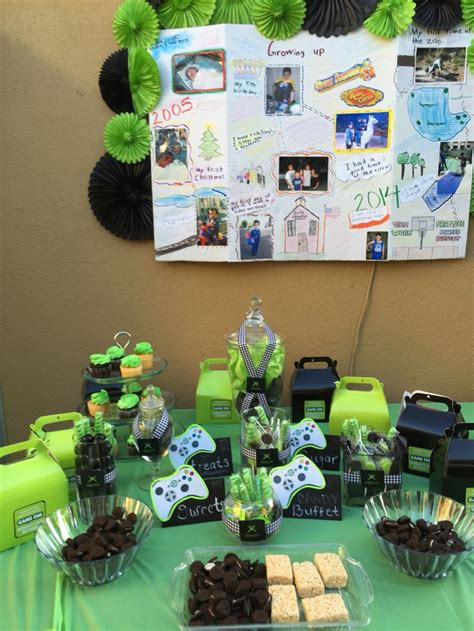 xbox party ideas  pinterest xbox party food
