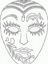Coloring Pages Gras Mardi Masks 1000 Popular sketch template