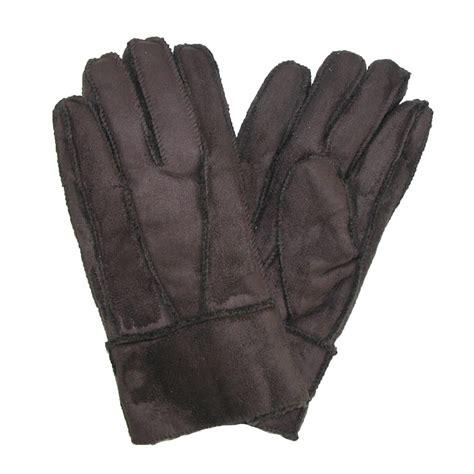 mens faux suede  faux fur winter glove  ctm