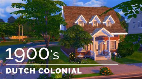 sims decade build series dutch colonial revival youtube