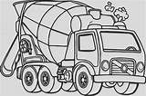 Coloring Cement Mixer Getcolorings Adults Truck sketch template