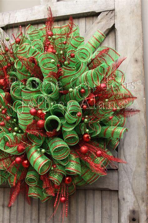 christmas decomesh wreath prairie gardens champaign