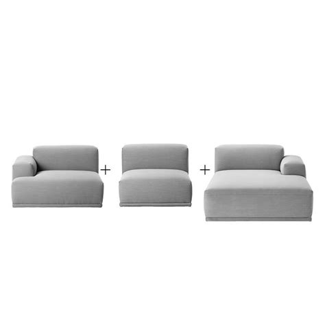 canapé lounge connect canapé lounge angle méridienne muuto
