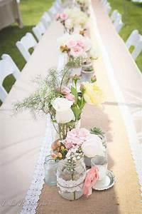 Tischdecken Für Lange Tische : traumhafte tischdeko f r eine vintage hochzeit party vintage hochzeit hochzeit deko und ~ Buech-reservation.com Haus und Dekorationen