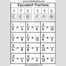 Equivalent Fractions Worksheet  Free Printable Worksheets Worksheetfun