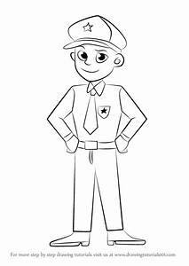 Learn How To Draw A Policeman Other Occupations Step By
