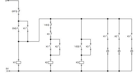 aplikasi relay rangkaian kontrol delta manual