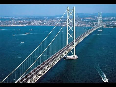 Bridge Bid Suspension Bridge In The World Akashi Kaikyo