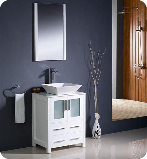 "Legion furniture 18 weathered gray sink vanity no faucet. Fresca FVN6224WH-VSL Torino 24"" Modern Bathroom Vanity ..."
