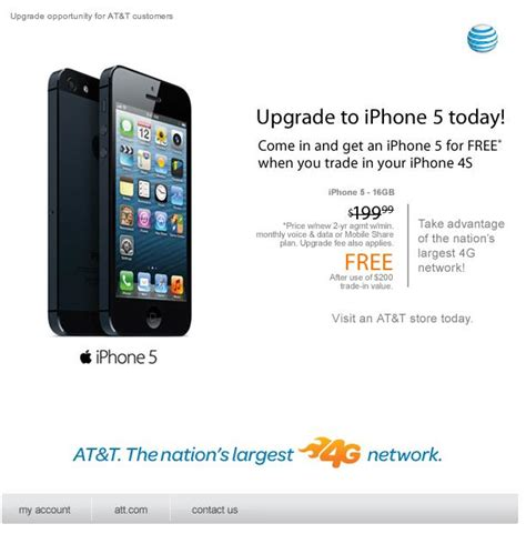 trade in iphone 5 at t supposedly offering iphone 5 for free with iphone 4s