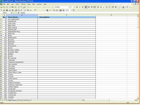 Inventory Spreadsheet Template For Excel Inventory