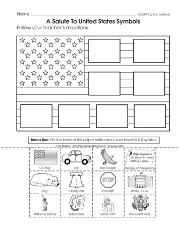 a salute to united states symbols lesson plans the