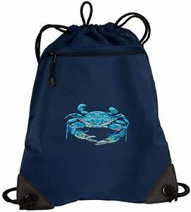 BLUE CRAB Drawstring Bag Backpack MESH & MICROFIBER Draw