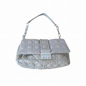 CHRISTIAN DIOR Miss Dior beige leather bag | Modsie