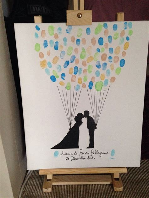 empreinte mariage 8 best images about cadeaux pour invités on trees thumb prints and wedding balloons