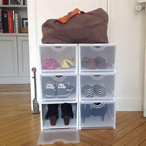 Bote Rangement Chaussures Plastique Empilable