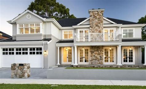 hamptons style  south perth  stunning oswald homes  build facade house hamptons