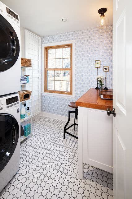 updated vintage traditional laundry room omaha