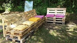 Palette De Bois : best mobilier jardin palette bois images ~ Premium-room.com Idées de Décoration